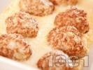 Рецепта Кюфтета на фурна по мандраджийски с бял яйчен сос с лимон - оригинална рецепта